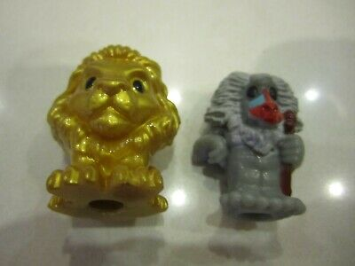 Woolworths Lion King Ooshies RARE Golden Simba and Raffiki! Great For The Kids!