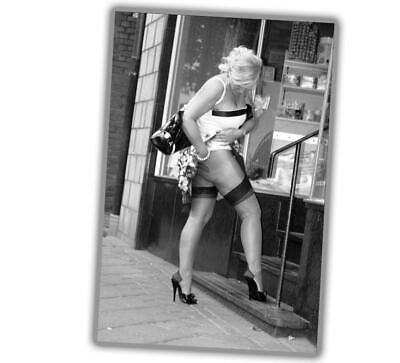 """Photo Vintage Pin-up Classic in shop Retro Girl Sexy Glossy Size """"4 x 6"""" inch P"""