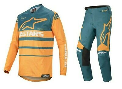 Alpinestars Erwachsene 2020 Racer Supermatic Orange / Petrol Motocross Jersey /