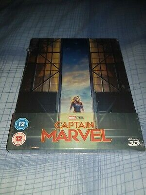 Captain Marvel 3D + 2D Limited Edition Blu Ray Steelbook NEW & SEALED!!!!