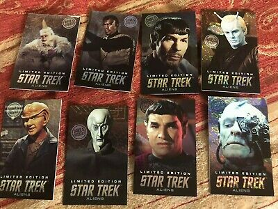 Dave Busters Star Trek Coin Pusher Cards Aliens LIMITED EDITION FULL SET Mugato!
