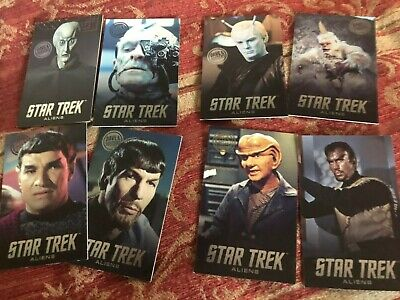 Dave and Buster's Star Trek Aliens coin pusher ARCADE cards Full Set with Mugato