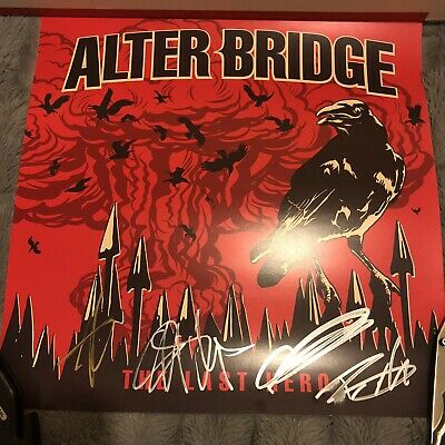 ALTER BRIDGE! The Last Hero Autographed Poster (Signed)