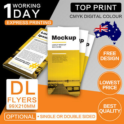 DL Flyers (Double/Single Sided) 150gsm/300gsm DL Flyer Printing free design