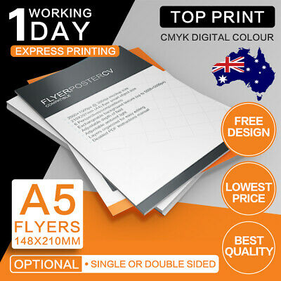 A5 Flyers (Double/Single Sided) 150gsm/300gsm DL Flyer Printing free design