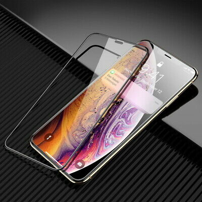 Full Coverage Tempered Glass Flim Screen Protector For iPhone XS XR 7 8 6s Plus