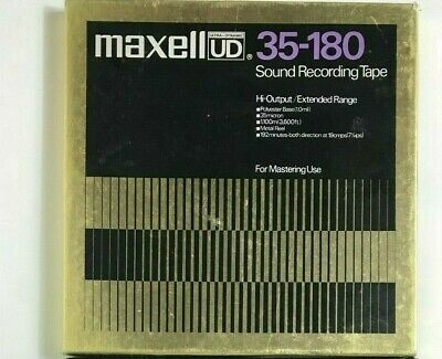 NOS Maxwell UD 35-180 Mastering Sound Recording Tape W/ Metal Reel