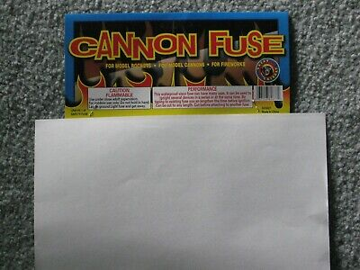 325' Fireworks Premium Cannon Hobby Fuse Label+  3mm - 23sec per foot