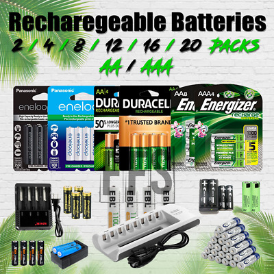 Rechargeable Batteries AA / AAA 2 4 8 12 16 Battery Charger NiMH lot mAh / 18650