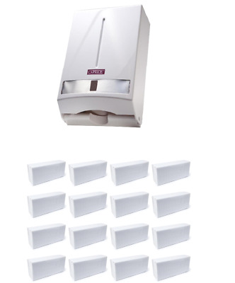 Paper Towel Interleaved slim-liner Interfold 16 Packs and Dispenser startup kit