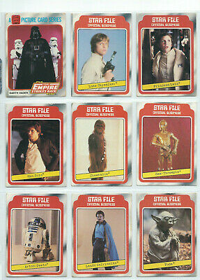 Scanlens Star Wars - Empire (ESB) Series 1 - Complete Card Set (132) 1980 EX+/NM