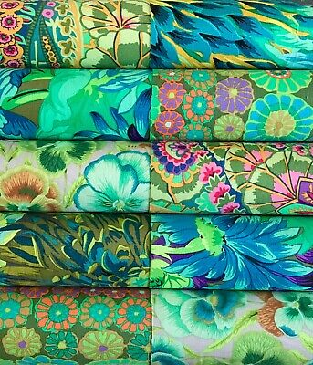 10 Kaffe Fassett collective quilting cotton fabric prints 5 inch squares #7a