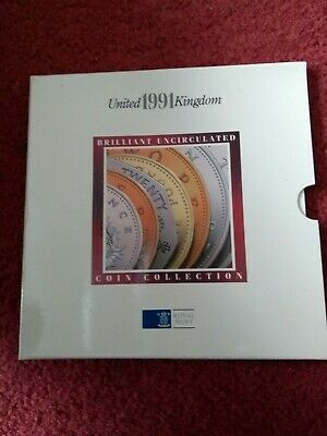 Royal Mint United Kingdom Brilliant Uncirculated Coin Collection 1991