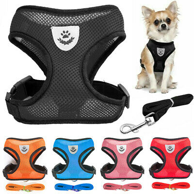 Mesh Puppy Pet Harness Vest Collar Dog Leash For Chihuahua Pug Bulldog