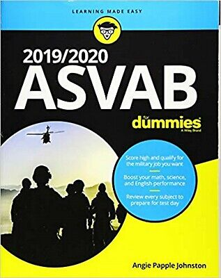2019/2020 ASVAB For Dummies 1st Editionby Angie Papple Johnston Paperback NEW