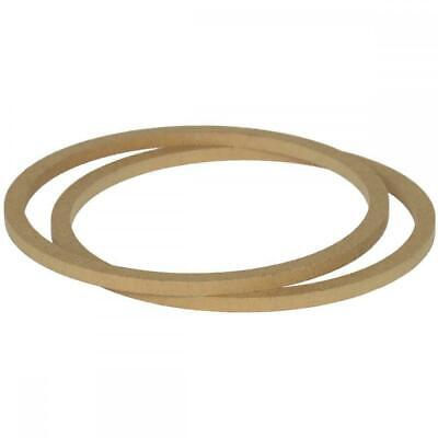 """8"""" 200mm Pair of MDF Speaker Spacer Mounting Rings 8mm Thick ID 182mm ED 202mm"""