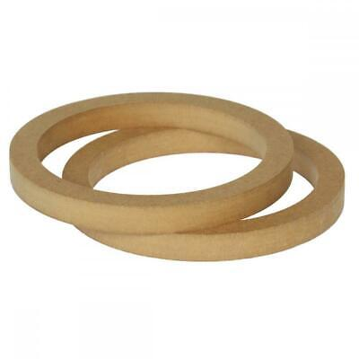 """6.5"""" 165mm Pair of MDF Speaker Spacer Mounting Rings 18mm Thick ID 144mm"""