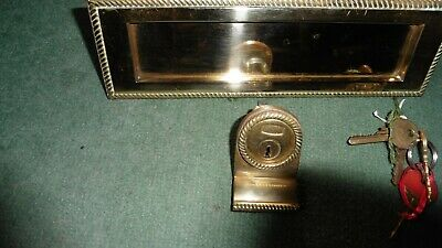 Brass letterbox and Union lock. Three keys supplied. Used but working perfectly
