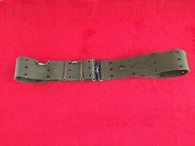 WW2 M1936 OD Green US Army Soldiers & Officers Web Pistol Belt Dated 1945