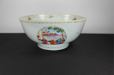 Antique 18Th Century Chinese Export Famille Rose Porcelain Bowl