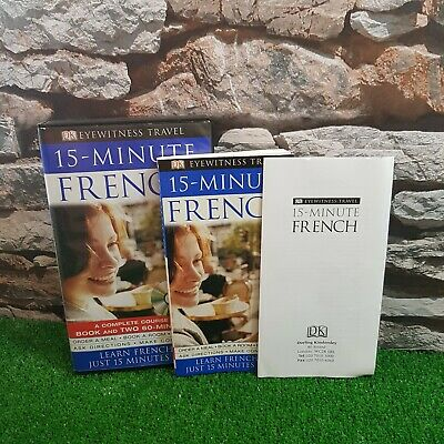 15-minute French 2 CDs + BOOK  Learn French in Just 15 Minutes a Day Free P&P
