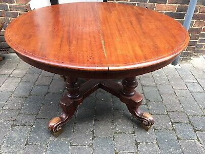 Victorian / Antique Round Dining table with extension leaf