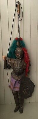 Stunning Antique / Vintage Large French Medieval Knight Puppet Marionette Doll
