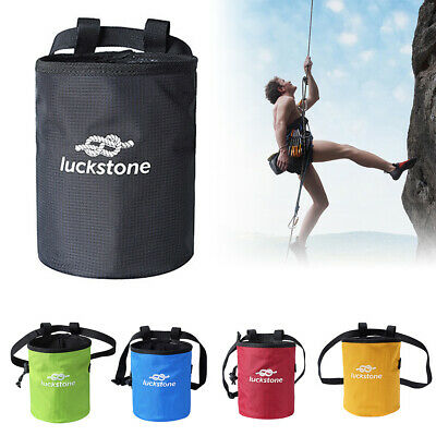 Outdoor Rock Climbing Chalk Bag Polyester Magnesium Powder Pouch Waist Belt Pack
