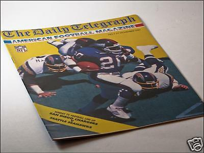Daily Telegraph American Football Magazine Issue No. 1 27/11/87