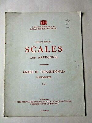 Scales & Arpeggios Pianoforte  Sheet Music Grade 3 Transitional