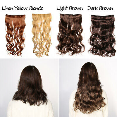 Fashion Thick Long Hair Extensions With Clip Synthetic Full Head Wavy Curly