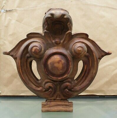Large Antique/Vintage Carved Wood Finial - Architectural Salvage