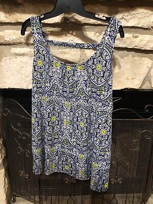 The Limited XXL Tank Top NWOT Lime Green Blue Stretchy Womens