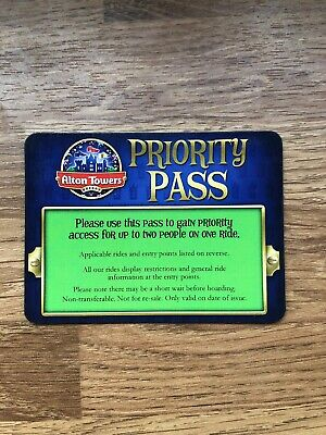 Alton Towers Green Priority Fast Track Pass