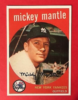 Mickey Mantle 1959 Topps #10 - Reprint Baseball Card - New York Yankees - RP