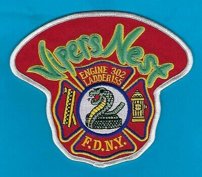 """New York City Fire Department Engine 302/Ladder 155 Patch B ~ """"The Vipers Nest"""""""