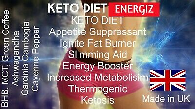 BHB+ KETO DIET PILLS / Tablets MCT ENERGIZ  WEIGHT LOSS  EXTRA STRENGTH