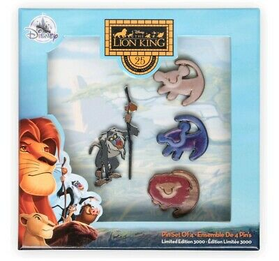 Disney The Lion King 25th Anniversary Pin Set IN HAND Limited Edition 3000