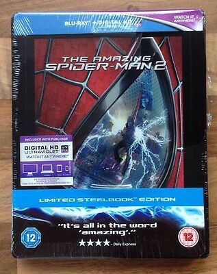 THE AMAZING SPIDERMAN 2 - EXCLUSIVE BLURAY STEELBOOK - Brand New & Sealed