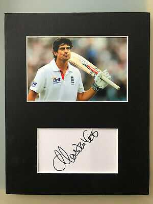 Alastair Cook England Cricketer AUTOGRAPHED photo mount-see signing proof