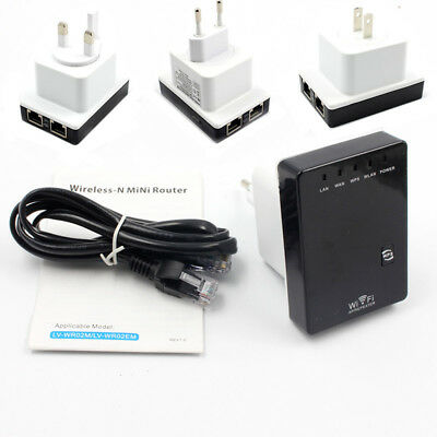 300Mbps Wireless Repeater Router AP WiFi Signal Amplifier Range Extender Proper