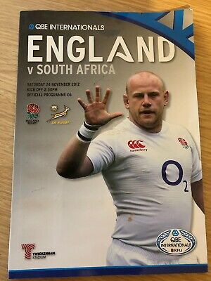 England vs South Africa Rugby Programme - 24.11.12 - Pre owned Inc Ticket