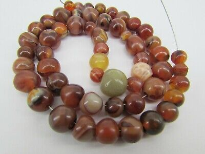 Old Carnelian beads with beautiful structures from Pakistan