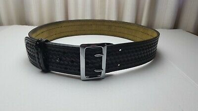 """NEW Safariland 87 Suede Lined Belt Hi Gloss w//Brass Nickel or Black Buckle  36/"""""""