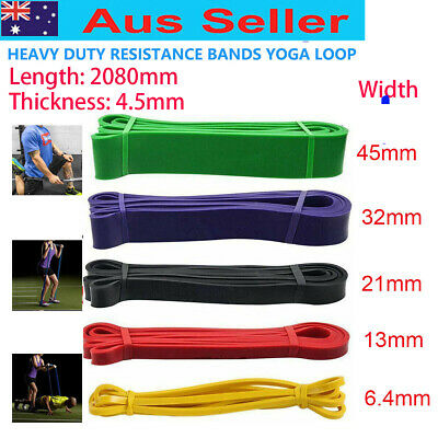 HEAVY DUTY RESISTANCE BAND YOGA LOOP HOME GYM FITNESS EXERCISE 5 size for choice
