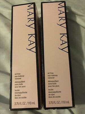 LOT OF 2 MARY KAY EYE MAKEUP REMOVER - OIL FREE - FULL SIZE  Hypoallergenic