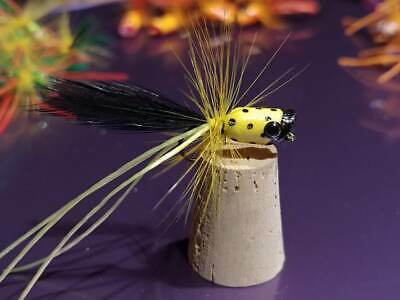 12 ea-Crappie and Bream jigs,Chartruese /& yellow.1//32oz,Deadly $6.99 Free Ship