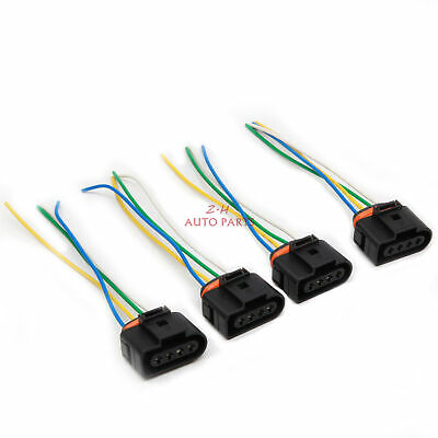 4X IGNITION COIL Connector Plug Pack Wiring Harness For AUDI