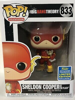 Funko Pop Sheldon Cooper as Flash Big Bang Theory Shared Exclusive SDCC 2019