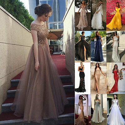 Women' Evening Wedding Formal Prom Ball Gown Cocktail Party Bridesmaid Dresses L